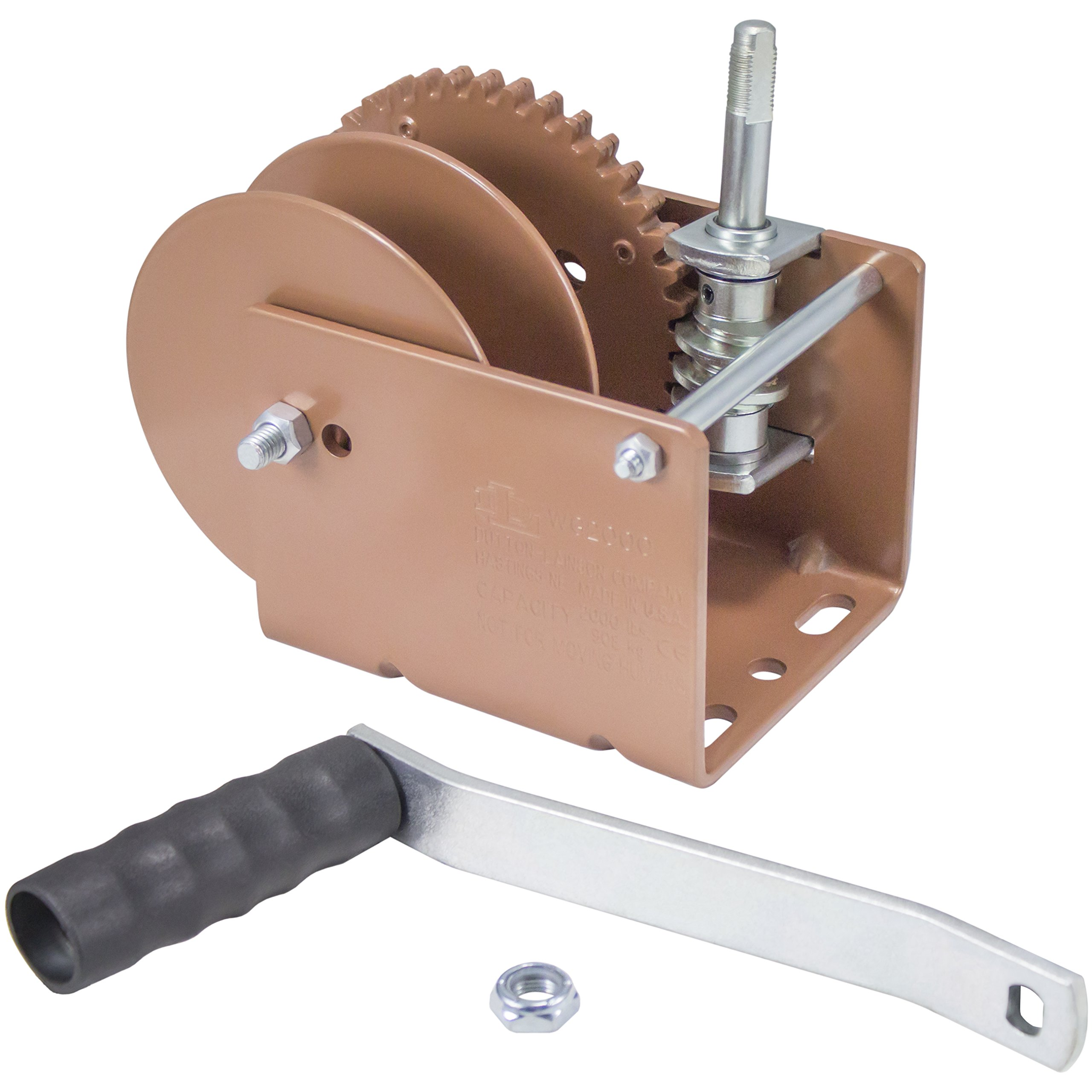 Dutton-Lainson Company (WG1500SR) Worm Gear Winch with Split Reel - 1500 lb. Load Capacity
