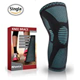 PowerLix Compression Knee Sleeve - Best Knee Brace for Meniscus Tear, Arthritis, Quick Recovery etc. – Knee Support For Running, CrossFit, Basketball and other Sports – Single Wrap