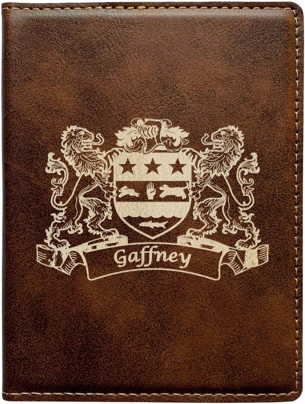 Gaffney Irish Coat of Arms Leather Passport Wallet