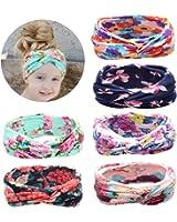 ZHW Baby Girl's Multi Colour Flower Hair Bow Baby Headbands
