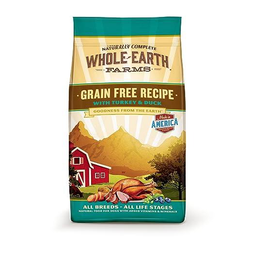 amazon com whole earth farms grain free recipe dry dog food turkey duck 25 pound pet supplies
