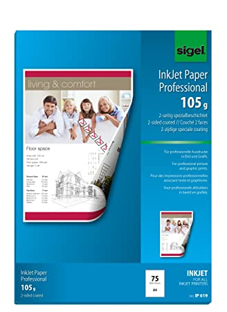 Amazon.com: Sigel ip619 Inkjet Paper Coated, a doble cara ...