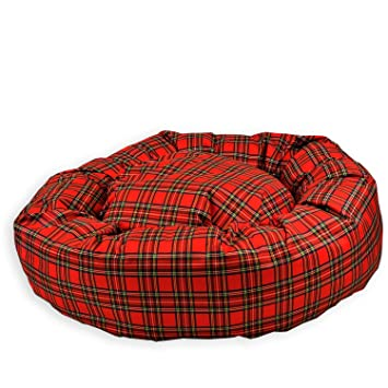 Tartan - Pet Beds Direct Rojo tartán - Impermeable Donut Cama. Muy Resistente, Impermeable, fácil de Limpiar Perro Cama. Reino Unido Fabricante: Amazon.es: ...