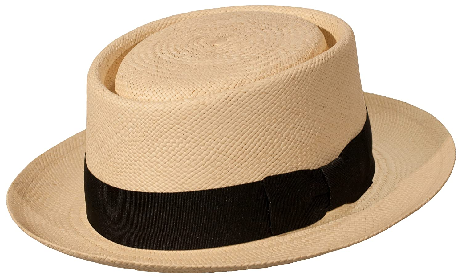 Levine Hat Co. Men's Genuine Panama 'Citizen' Porkpie Hat Natural)
