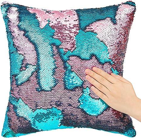 "16/""x16/"" Reversible Mermaid Sequin Pillowcase Pillow Cushion Cover Pillow Slip"