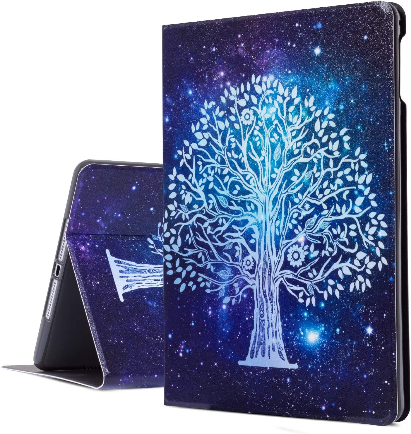 iPad Air 2 Case, iPad Air Case, Galaxy Tree iPad 9.7 Inch Case Protective Cover for Apple 5th/6th Generation, Multi-Angle Viewing Case with Adjustable Stand Auto Wake/Sleep Function (Galaxy)