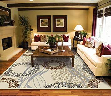 Attrayant Large Area Rugs 8x11 Dining Room Rugs For Hardwood Floors Cream Black Rug  8x10 Area Rugs