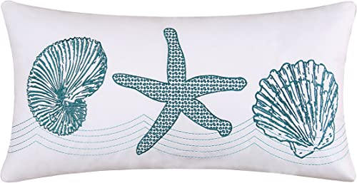 C F Home 861561650B Cora Throw Pillow, Blue