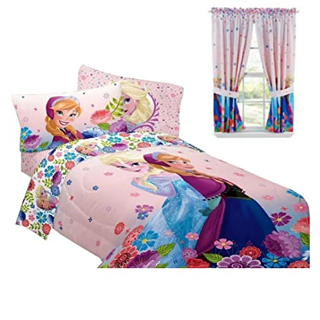 Disney Frozen Bedroom Decor   Anna U0026 Elsa Comforter U0026 Curtains Bundle