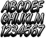 """Stiffie Whipline Silver/Black 3"""" Alpha-Numeric"""