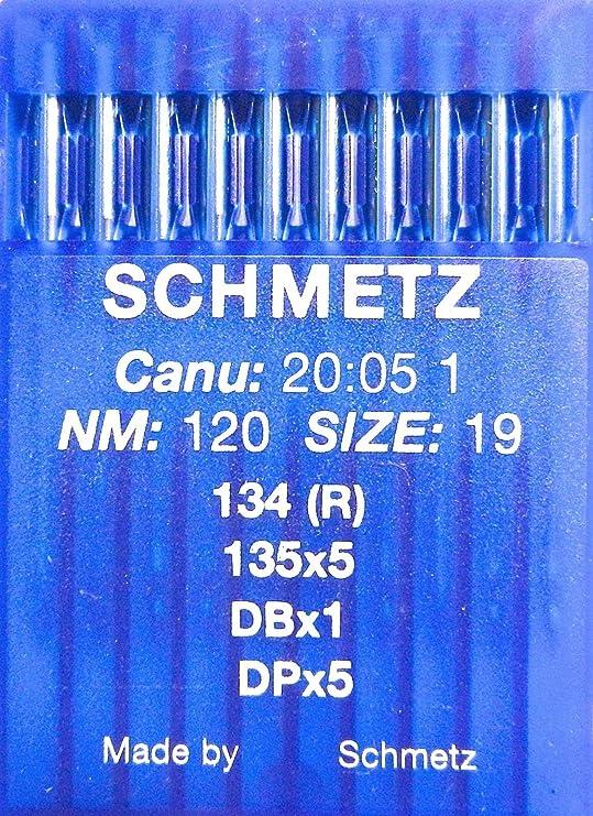 SCHMETZ - 10 agujas para máquina de coser (sistema 134 (R ...