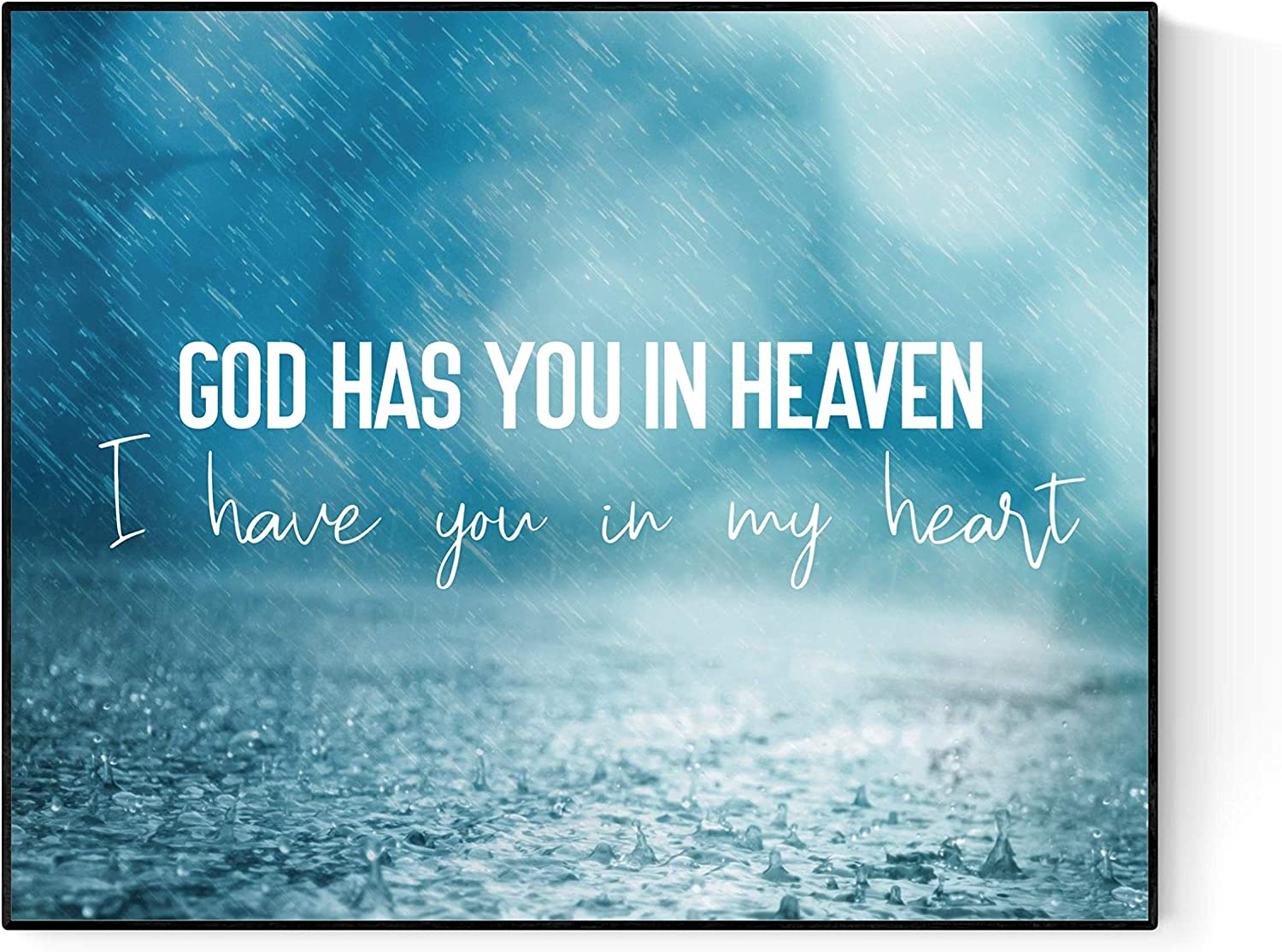 21 Years by Tobymac Song (White) | God Has You in Heaven, I Have You in My Heart | Lyrics Wall Art Print | Faith (11x14)
