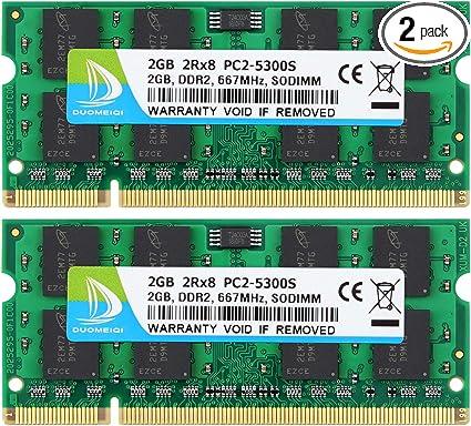 Memory Ram Laptop DDR2 PC2 6400S 800 MHz SODIMM NON ECC 2GB 4GB LOT VARIOUS BRND