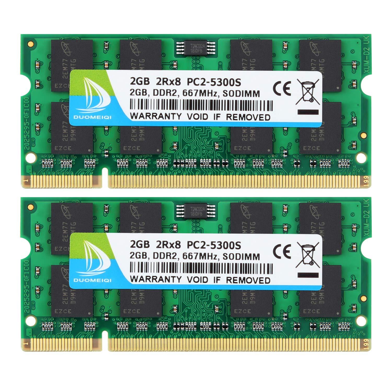 8GB // 1GB PC2-5300S DDR2-667MHz CL5 SO-Dimm Laptop Memory For NANYA LOT 4x 2GB