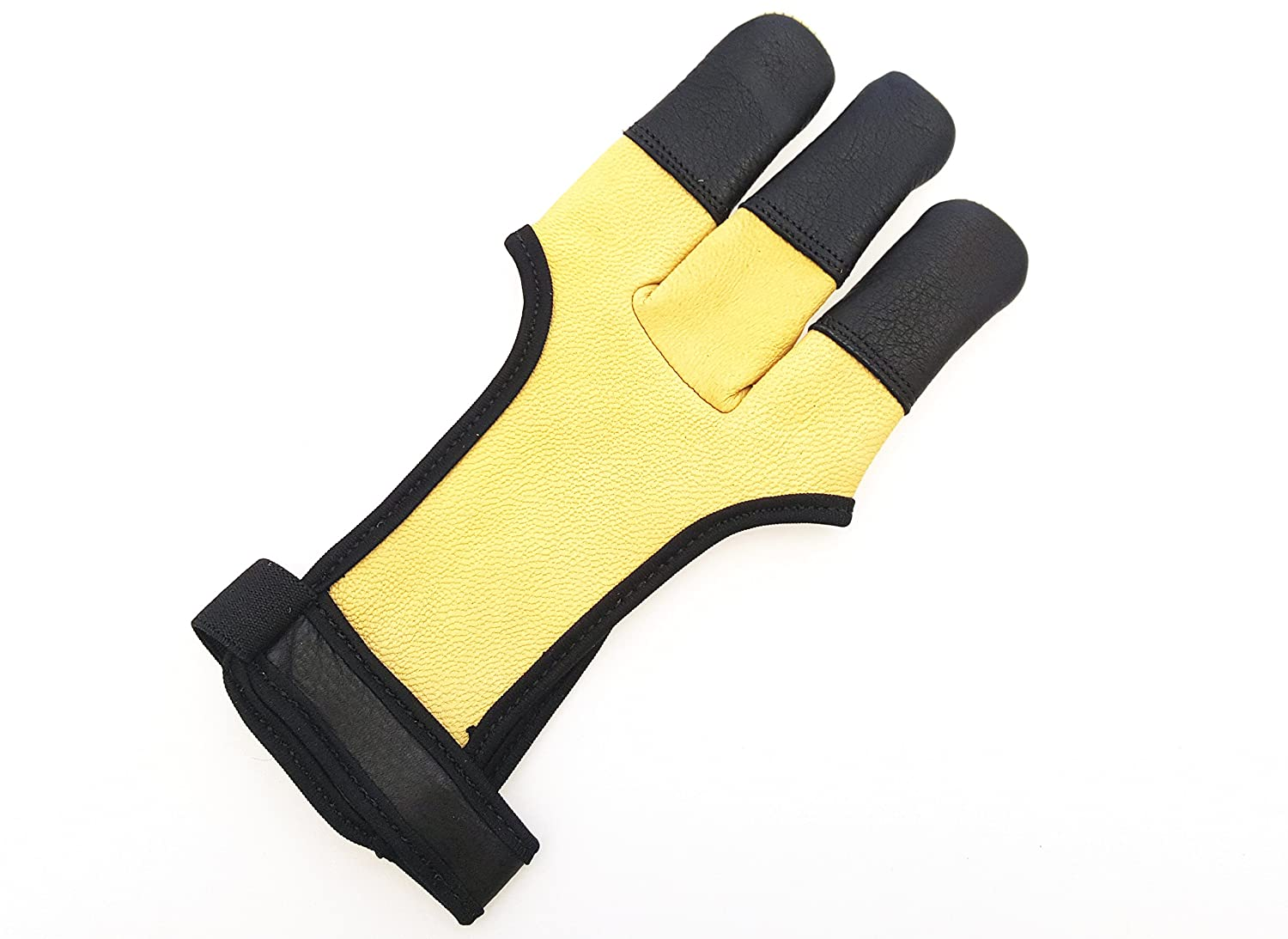 Quality Soft Genuine DeerSkin Traditional Archery Gloves Full Tip Shooting Gloves.