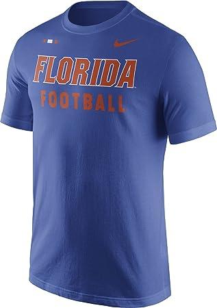 Nike Camiseta de fútbol de Florida Gators Azul Centro de diseño T-Shirt, Azul