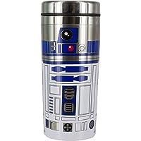 Star Wars: The Last Jedi The Last Jedi R2-D2 Travel Mug, Brushed Steel, Multi-Colour, 18.5 x 8 x 8 cm