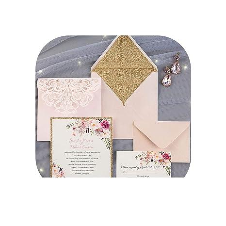 Amazon Com 50pcs Custom Color Wedding Invitations Card