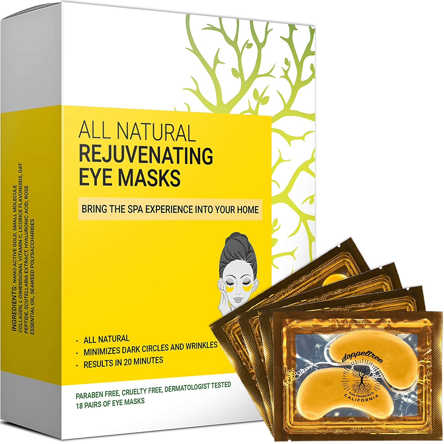 Amazon Com All Natural Under Eye Patches Masks 18 Pairs