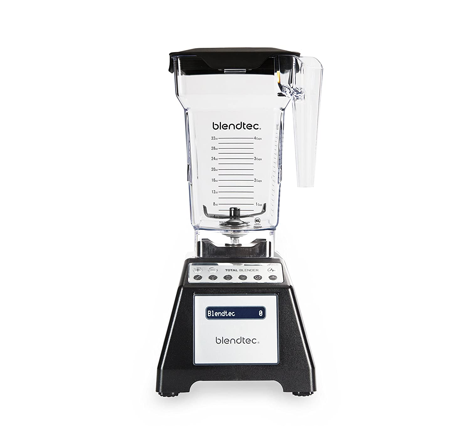 Blendtec Total Classic Original Blender with FourSide Jar (75 oz), Professional-Grade Power, 6 Pre-programmed Cycles, 10-speeds, Black Blendtec Fine Living Products TB-621-20