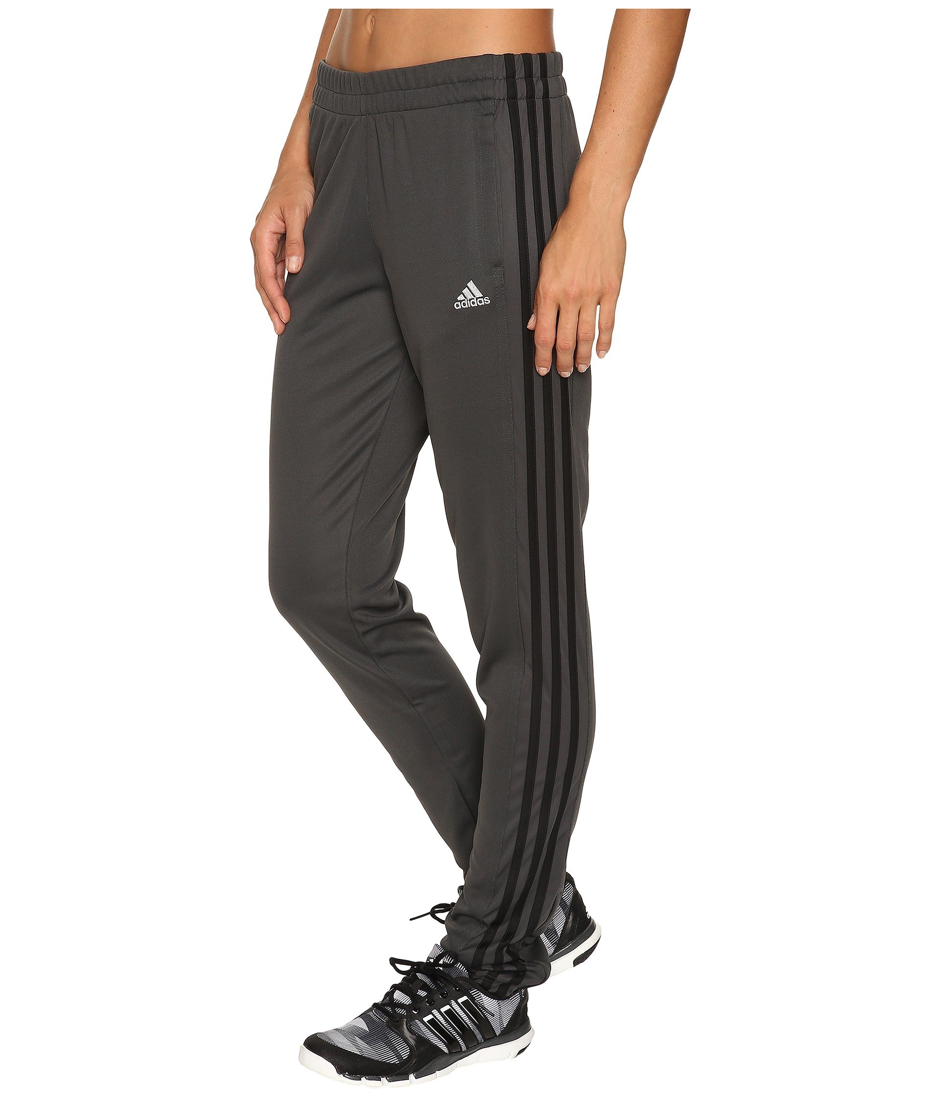 adidas Women's T10 Pants, Dary Grey/Black, X-Small