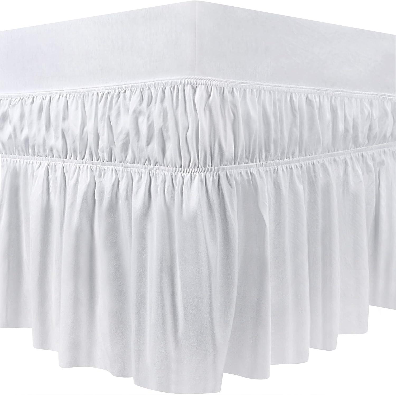 40 cm Goutte /à Volants 99 x 190 cm, Blanc Utopia Bedding /Élastique Jupe de lit /à Volants