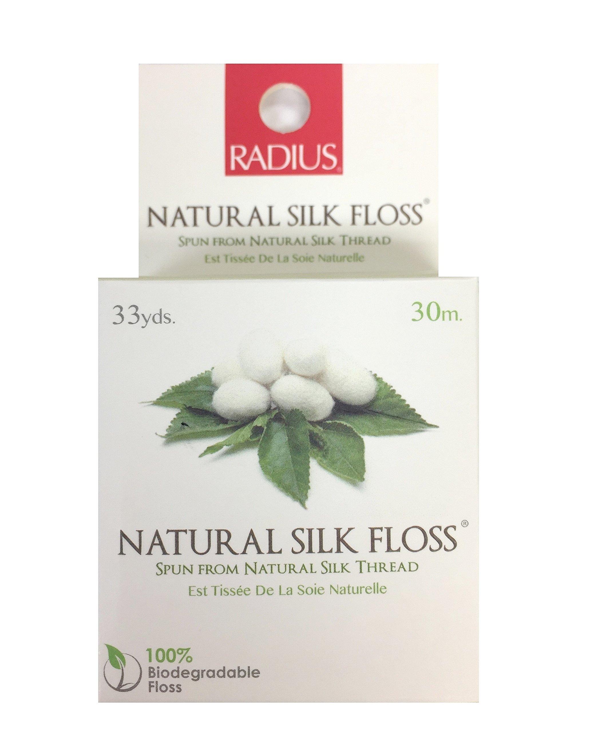 Radius Dental Floss Natural Silk Floss 33 yards (a) - 2pc