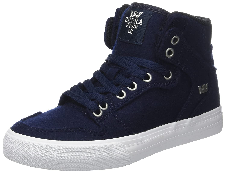 Supra Vaider LC Sneaker B06XY8896C 9.5 M US Women / 8 M US Men|Navy Wool/White