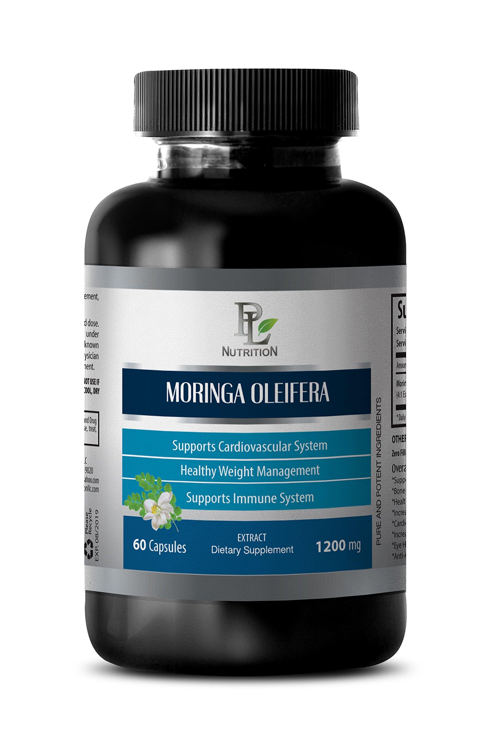 Weight loss pills - MORINGA OLEIFERA EXTRACT 1200 MG - Moringa powder - 1 Bottle 60 Capsules