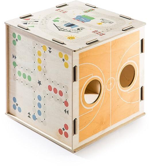 Donkey Products Kids Cubo con 6 Juegos, Cubo de Juegos, Mesa de ...