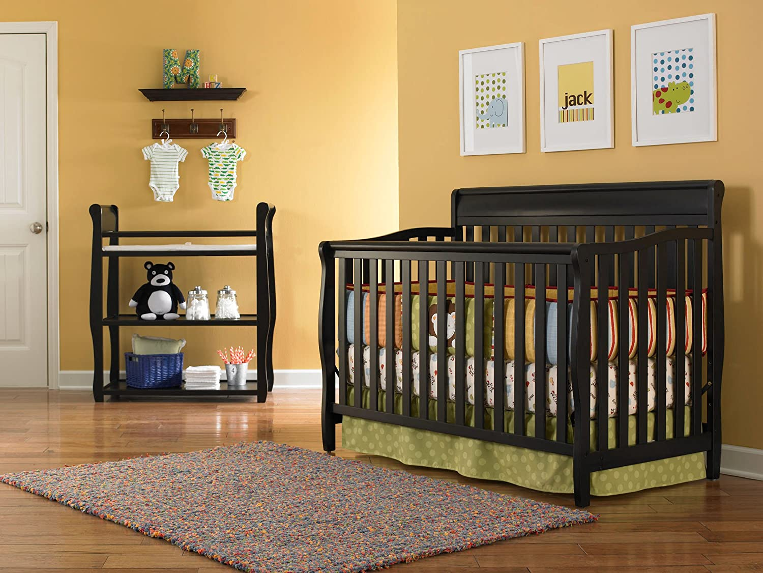 Amazon.com: Graco Stanton Convertible Crib, Black (Discontinued By  Manufacturer): Baby