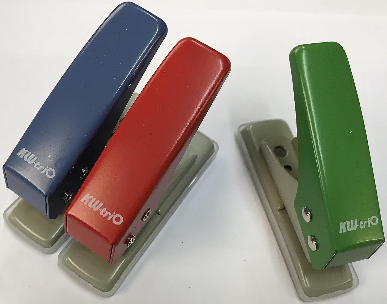 Kw-Trio en métal 1trou 6mm de diamètre pratique Punch, perforateur 12feuilles Capacité 9210