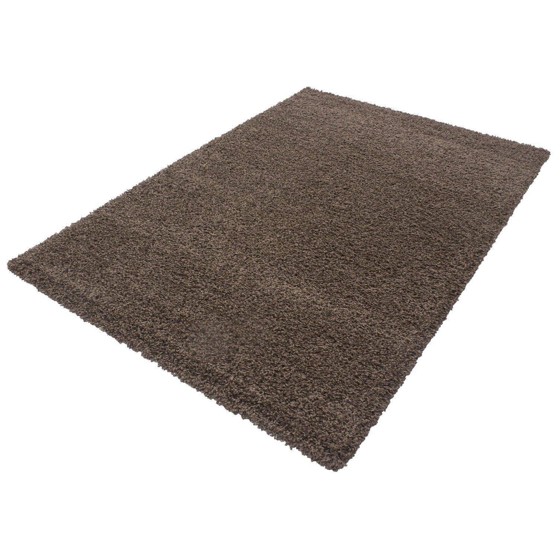 HomebyHome Shaggy Hochflor Langflor Einfarbig Günstig Teppich für Wohnzimmer mit Oeke Tex Zertifiziert 14 Farben und 17 Grössen, Größe 200x290 cm, Farbe Terra B01MF90WQ8 Teppiche
