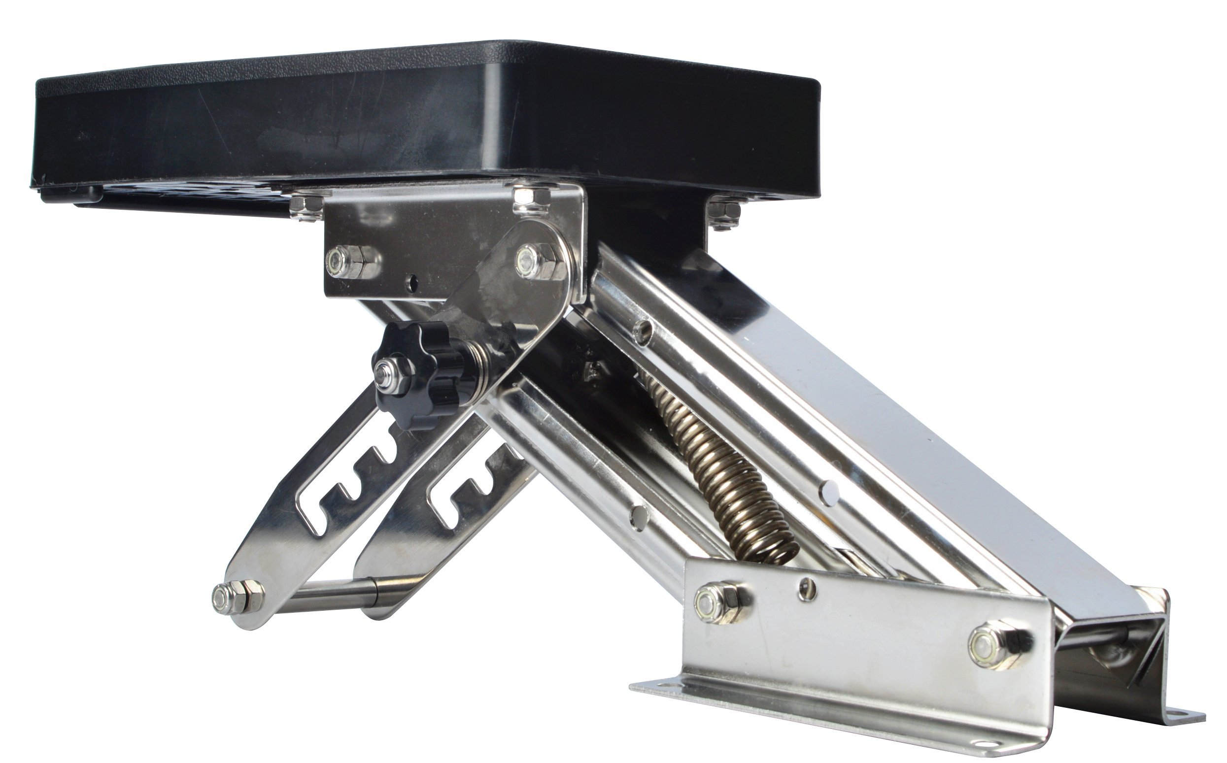 Amarine-made Outboard Motor Bracket Kicker for Boat, up to 25hp Auxilary Trolling Mount