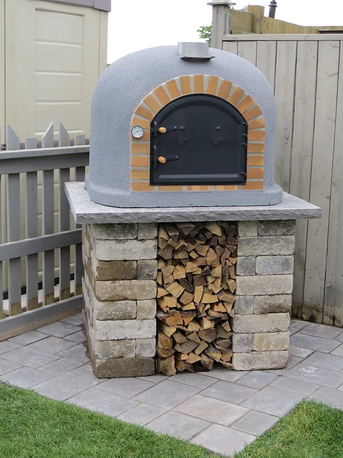 Pizza Oven Outdoor Kitchen Amazoncom Outdoor Pizza Oven Wood Fired Insulated W Brick