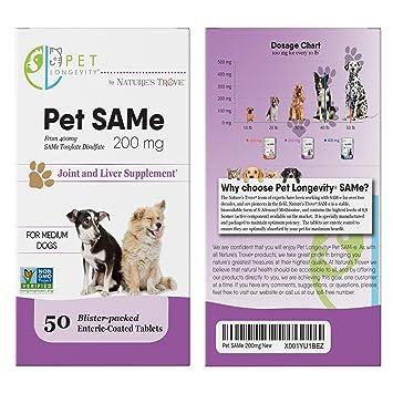 Amazon.com: Mascota Longevidad Mismo 200 mg Complementos ...