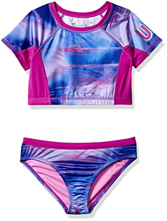 42aeeb1f8dc Amazon.com: Under Armour Girls' Rashguard Set: Clothing