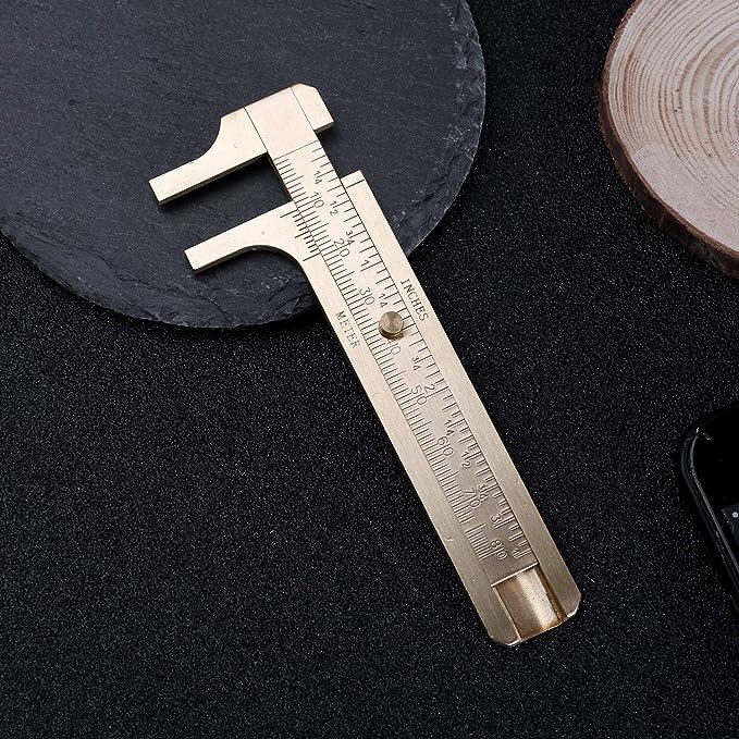 Amazon.com: Juland Retro Vernier Caliper Copper Alloy Mini ...