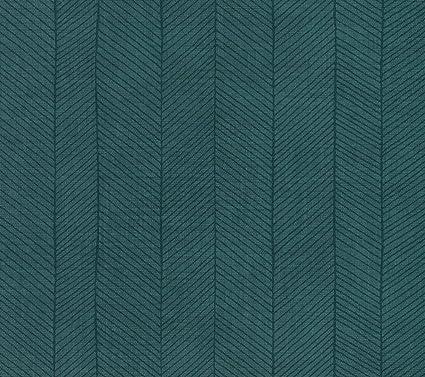 Cloe 92703 Textured Fabric Effect Striped Petrol Green