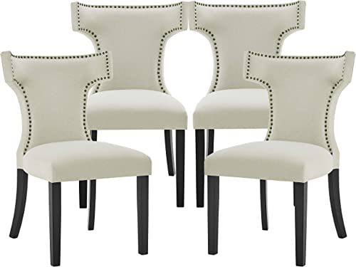 Fabric Dining Chair Mid-Century Accent Chair Upholstered Dining Chair