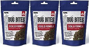 Fluval (3 Pack) A6581 Bug Bites Cichlid Pellets for Medium to Large Fish (3.53 oz. Per Pack)