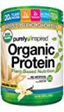 Purely Inspired Organic Protein Powder, 100% Plant Based Protein, French Vanilla, 1.5lbs