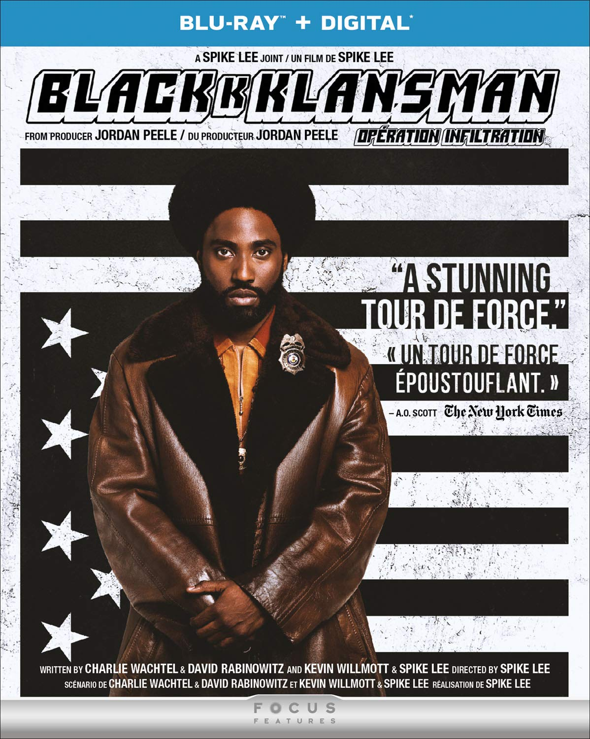 BlacKkKlansman [Blu-ray + Digital] (Bilingual) John David Washington Adam Driver Laura Harrier Topher Grace