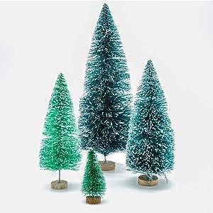 Homestarry Desktop Miniature Pine Tree Tabletop Christmas Tree Small Pine Tree Decor Christmas Tree Toppers