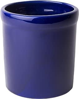 product image for American Mug Pottery Ceramic Utensil Crock Utensil Holder, Made in USA, Black