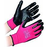 Shires chantier multiusage Gants Taille XL (Noir/rose)