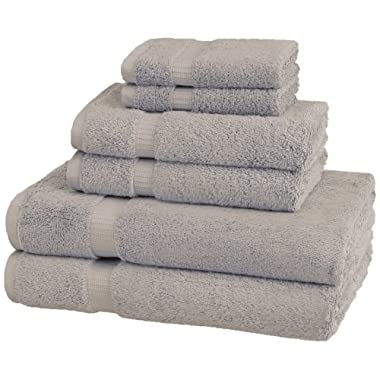 Pinzon Organic Cotton Towels 6 Piece Set, Marble Grey