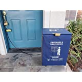 DoorBox - Weatherproof Package Delivery Box (US & Internationally Patented) Steel Cable, Anti-Theft Alarm, Secure Lock…