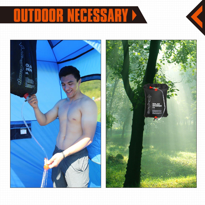 KingCamp Portable Outdoor Solar Shower Bag 20 Litre / 5.28 Gallon
