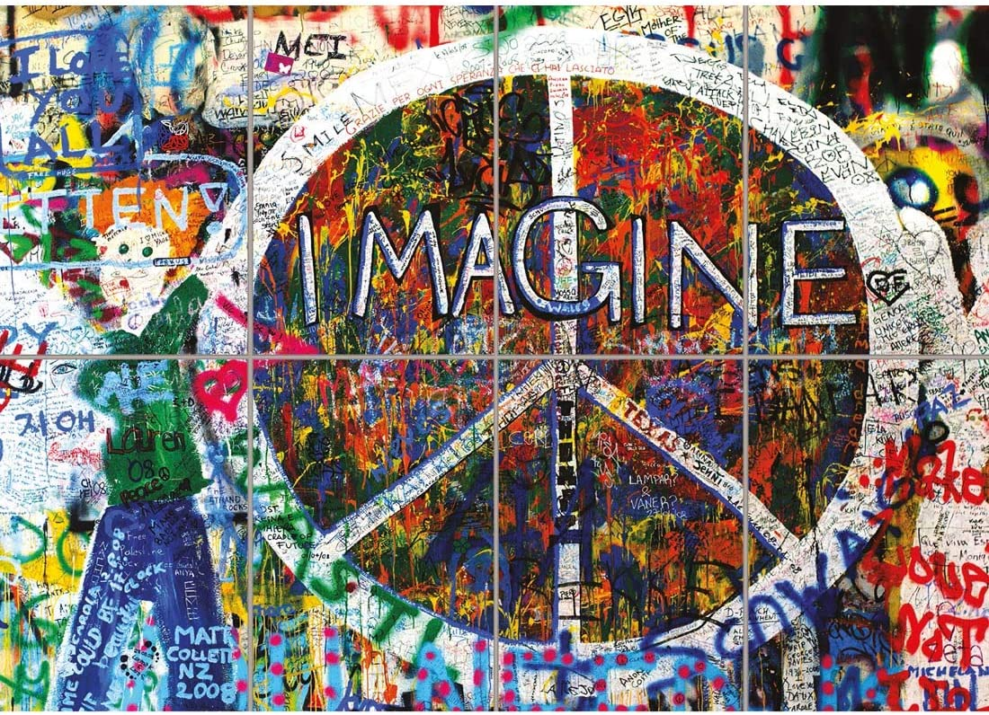 Amazon Com Doppelganger33ltd Imagine John Lennon Peace Graffiti Giant Art Print Home Decor New Poster Oz2104 Posters Prints